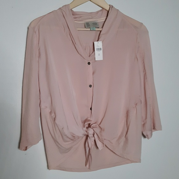Anthropologie Tops - NWT [Anthro] Saturday Sunday Pink/Rose Button Down